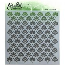Plastična šablona - Floral Damask - Picket Fence Studios