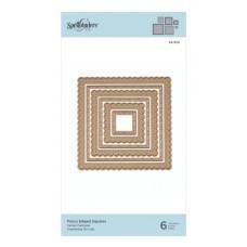 Kovinske šablone - Fancy Edged Squares - Spellbinders