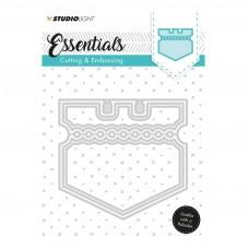 Kovinske šablone - Embossing Die Cut Stencil - Essentials Nr.121 - Studio Light