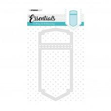 Kovinske šablone - Embossing Die Cut Stencil A6 - Essentials Nr.199 - Studio Light