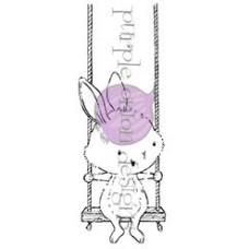 Štampiljka - April (Bunny on Swing) - Purple Onion Designs