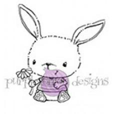 Štampiljka - Chloe (Sitting Bunny with Small Flower) - Purple Onion Designs