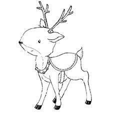Štampiljka - Laurel (Reindeer) - Purple Onion Designs