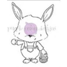 Štampiljka - Riley (Rabbit with Basket) - Purple Onion Designs