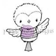 Štampiljka - Robin (Striped T-shirt Flying Bird) - Purple Onion Designs