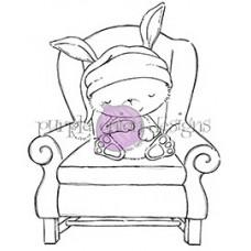 Štampiljka - Sugar Plum (Sleeping Bunny in Chair) - Purple Onion Designs