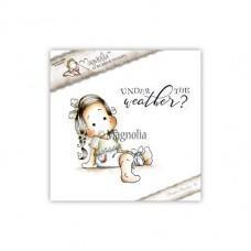 Štampiljka - Tilda With Heart Pants + text - Magnolia