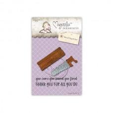 Kovinska šablona - Wood Tag & Saw - Magnolia