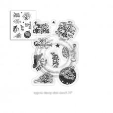 Set štampiljk - Merry Little Xmas sentiments - Polkadoodles