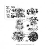 Set štampiljk - Merry & Bright Christmas Greetings  - Polkadoodles