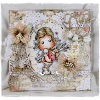 OOAK Handmade Greeting Card - Love Is All Around
