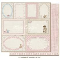 Paper - Journaling Cards Pink - Vintage Baby