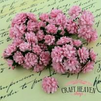 Baby Pink Mulberry Paper Aster Daisy Stem Flowers - 15mm