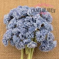 2-Tone Antique Blue Mulberry Paper Gypsophila Flowers - 10mm