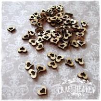 Wooden Decoration - Mini Hearts