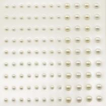 Self-Adhesive Half-Pearls - White & Ecru