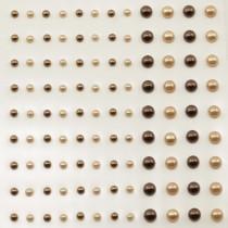Self-Adhesive Half-Pearls - Copper & Apricot