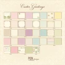 Paper - Easter Greetings - Complete 12x12 Collection