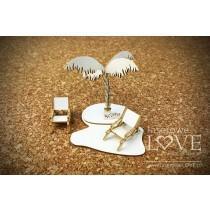 Palm tree 3D - Vintage Tropical Island - Laserowe LOVE
