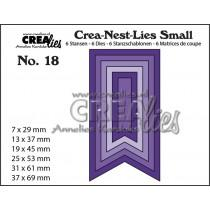 Crea-Nest-Lies Small Dies no.18 - Fishtail Banner Smooth
