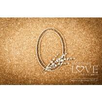 Oval frame with lavender - Sweet Lavender - Laserowe LOVE