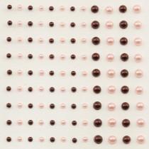 Self-Adhesive Half-Pearls - Grenadine