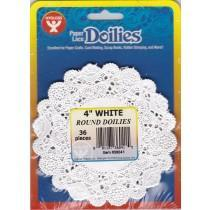 Paper doilies - Round 4'' - White