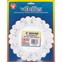 Paper doilies - Round 6'' - White