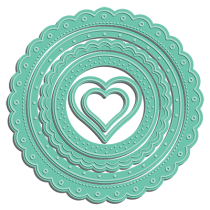 Scalloped Circle Frame Set - LDRS Creative