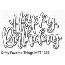 Happy Birthday Script - Die-Namics - My Favorite Things
