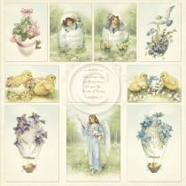 Paper - Images from the Past 12x12 - Easter Greetings