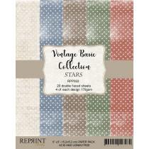 Reprint - Basic Stars - 6x6 Inch Paper Pack