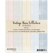 Reprint - Stripes Basic - 6x6 Inch Collection Pack
