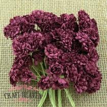 Burgundy Mulberry Paper Gypsophila Flowers - 10mm