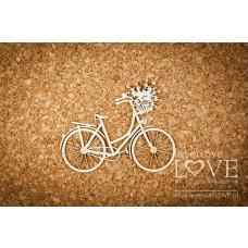 Retro bicycle - Sweet Lavender - Laserowe LOVE