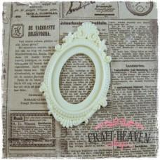 Ivory Resin Cabochon Frame