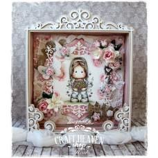 OOAK Handmade Shadow Box - Flower Bouquet