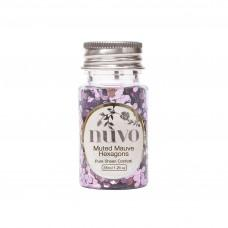 Nuvo Confetti - Muted Mauve Hexagons
