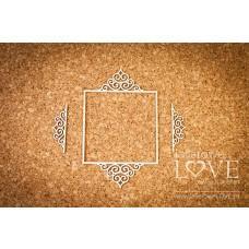 Square frame Paroles noble ornaments - Laserowe LOVE