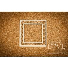 Vintage double square frame - Memories - Laserowe LOVE