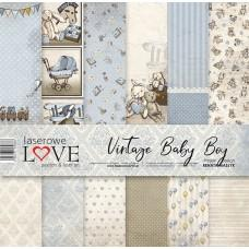 Set of papers - Vintage Baby Boy- 30,5 x 30,5 cm - Laserowe LOVE