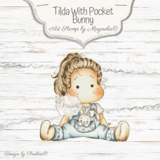 Hippity Hoppity Tilda with Pocket Bunny - Magnolia