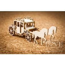 Carriage with horses 3D - Wedding Day - Laserowe LOVE