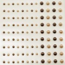 Self-Adhesive Half-Pearls - Copper & Apricot