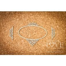 Oval frame Paroles noble ornaments - Laserowe LOVE