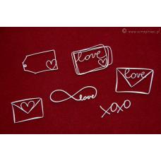 Brush Art Elements - Love Letters - Scrapiniec