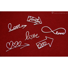 Brush Art Elements - Love Arrows - Scrapiniec