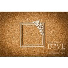 Square frame with delicate lilies - El Santo Rosario - Laserowe LOVE