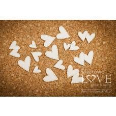 Set of hearts - Simple Wedding - Laserowe LOVE
