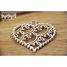 Tatting Christmas - Big Hearts 3D - Scrapiniec